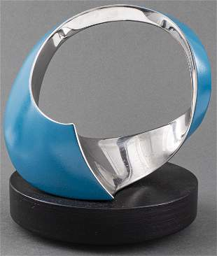 Modern Abstract Enamel And Metal Sculpture