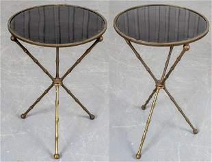 Maison Jansen Style Side Tables, Pair