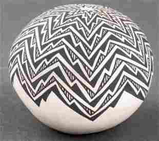 L. Vallo Southwest Pottery Seed Pot, Acoma, NM