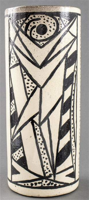 Modern Art Pottery Cubist Still Life Vase