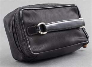 Gucci Black Leather And Nylon Handbag