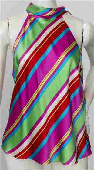 Ralph Lauren Multicolor Striped Silk Blouse