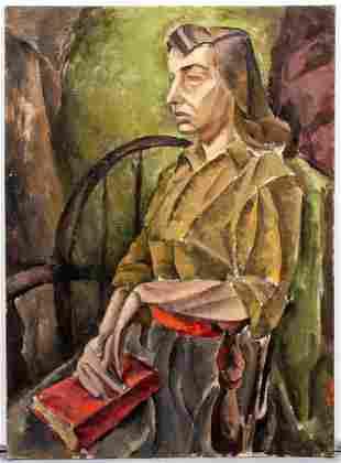 "Paul Pinson ""Reflection"" Oil on Canvas Board"