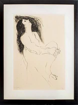 """R.C. Gorman """"Seated Woman"""" Lithograph on Paper"""