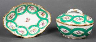 Sèvres Style Painted Porcelain Tureen And Dish