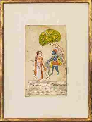 Indian Watercolor Manuscript