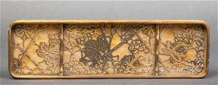 "Tiffany Studios ""Grapevine"" Bronze Pen Tray"