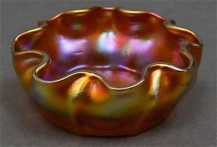 Tiffany Studios Favrile Art Glass Open Salt