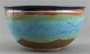 Signed American Art Pottery Glazed Bowl