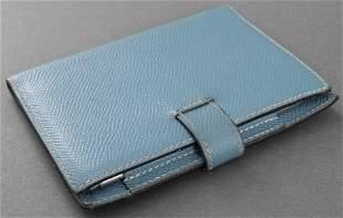 Hermes Light Blue Leather Wallet