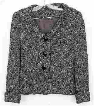Vintage Grey Wool Skirt Suit