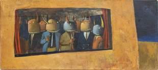 """Michael Paraskevas """"Ailens"""" Oil on Canvas"""