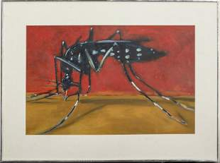 """Micheal Paraskevas """"Mosquito"""" Acrylic on Paper"""