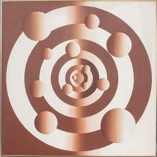 "Mario Grimaldi ""Bullseye"" Acrylic on Canvas"