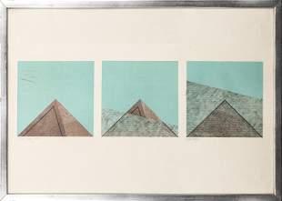 "Erik Roos ""Albigesi"" Serigraph Triptych"