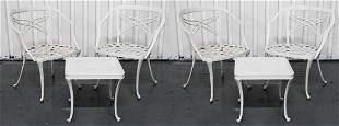 White Painted Metal Patio Set, 6