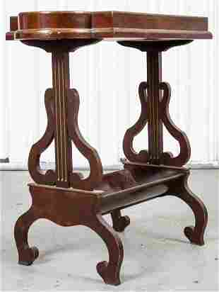 Regency Style Parcel Gilt Lyre Table