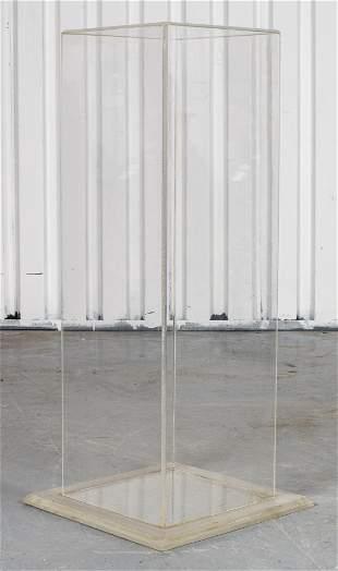 Modern Clear Lucite Pedestal