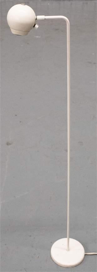 Mid-Century Modern White Enamel Floor Lamp
