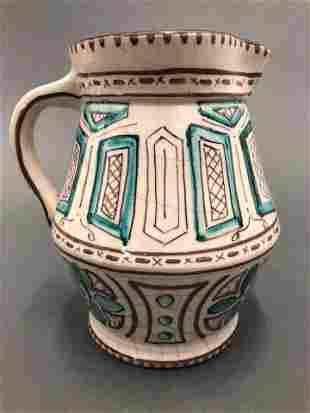 Spanish Handpainted & Handcrafted Ceramic Pitcher