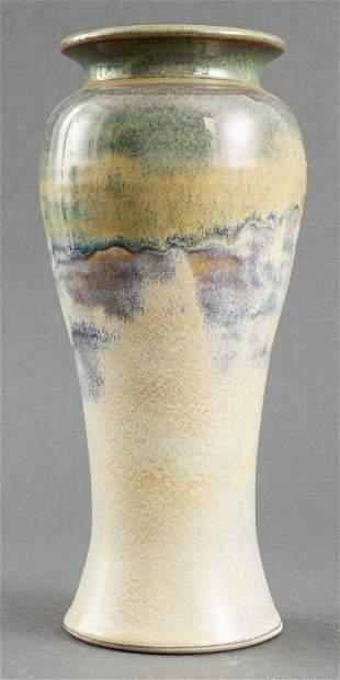 Illegibly Signed Modern Art Pottery Vase