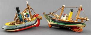 Sam Smith Hand Carved & Painted Wooden Boats, 2