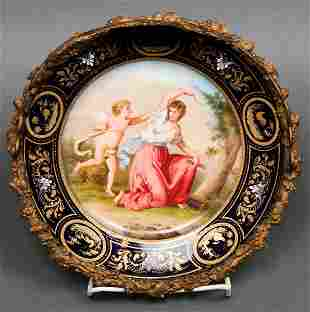Royal Vienna Signed Painted Porcelain Plate