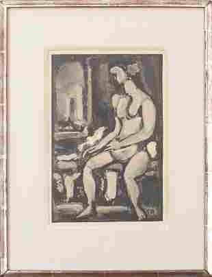 "Georges Rouault ""Seated Nude"" Intaglio"
