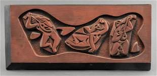 Ruth Faktorowitsch Mid-Century Ceramic Plaque