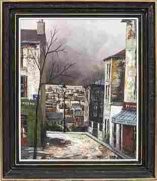 """Jose Daroca """"Place du Tertre"""" Oil on Canvas"""