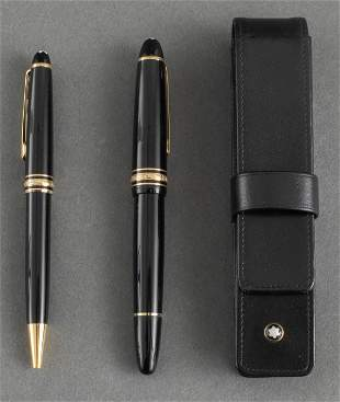 Montblanc Meisterstuck Fountain & Ballpoint Pens