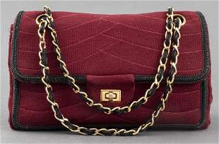 Red Quilted Jersey '2.55' Style Handbag