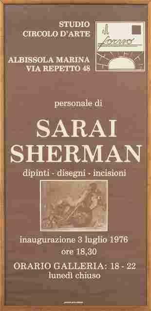 Sarai Sherman 1976 Italian Exhibition Poster