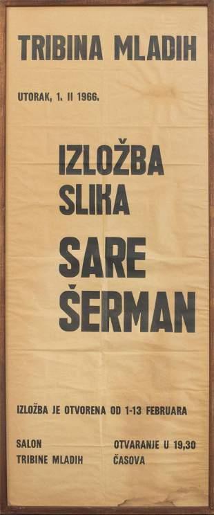 Sarai Sherman 1966 Croatian Exhibition Poster