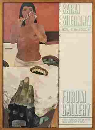 Sarai Sherman Mid Century Exhibition Poster