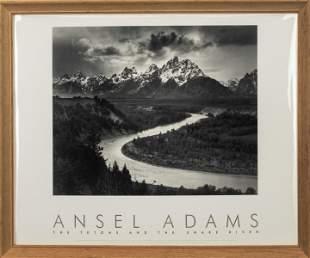 "Ansel Adams ""The Tetons & The Snake River Print"