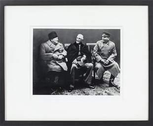 """Yalta Conference"" Archival Black & White Photo"