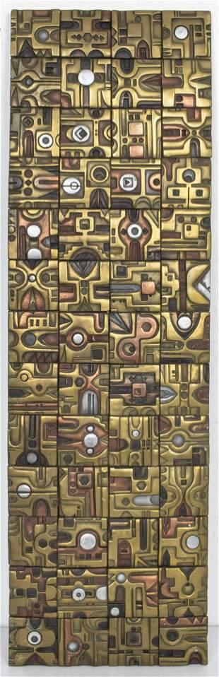 Giovanni Schoeman Geometric Metal Plaque
