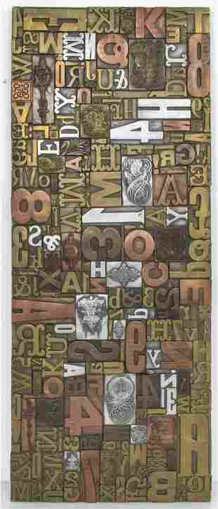 Giovanni Schoeman Mixed Metal Letters Wall Plaque