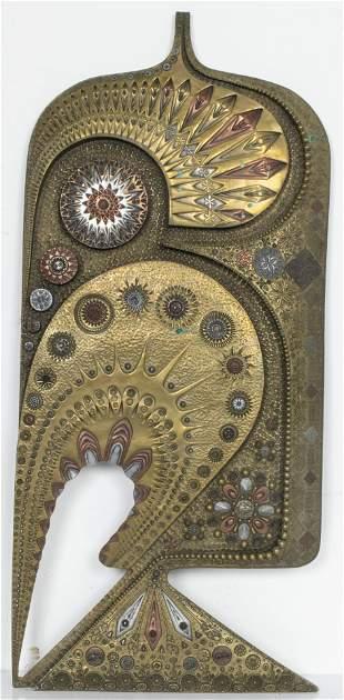 Giovanni Schoeman Abstract Bas-Relief Plaque