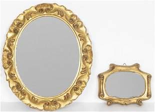 Italian Giltwood Mirror Duo