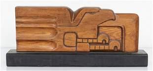 Art Deco / Americana Carved Wood Eagle Sculpture
