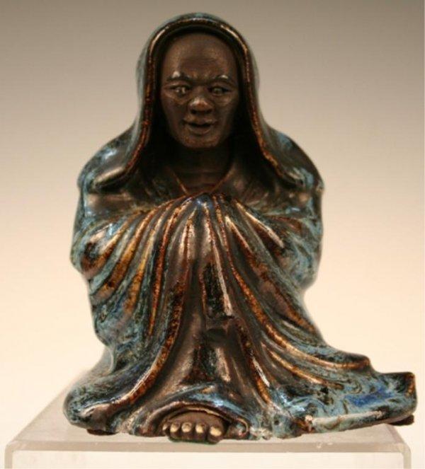 Chinese Kuang Tung Stoneware Figure 19th C.
