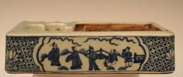 Ming-Era Chinese Blue-&-White Porcelain Inkstone