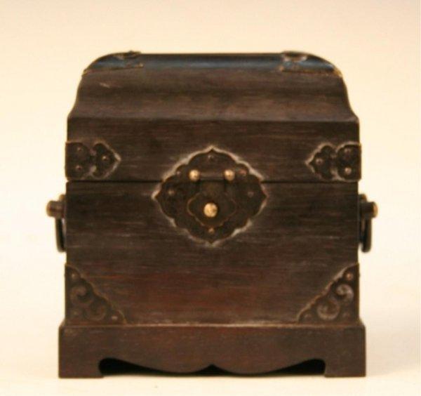 Qing-Era Chinese Jade Stamp w/ Wood Box