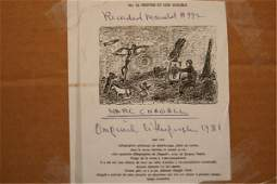 The Artist Over Paris Litho by Chagall 1981