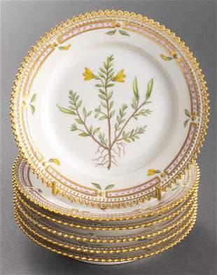 "Royal Copenhagen ""Flora Danica"" Bread Plates, 6"
