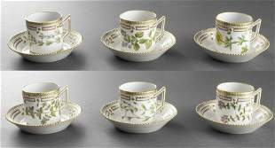 "Royal Copenhagen ""Flora Danica"" Cups & Saucers 12"