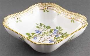 "Royal Copenhagen ""Flora Danica"" Square Bowl"