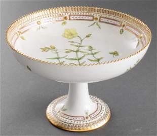 """Royal Copenhagen """"Flora Danica"""" Round Compote"""